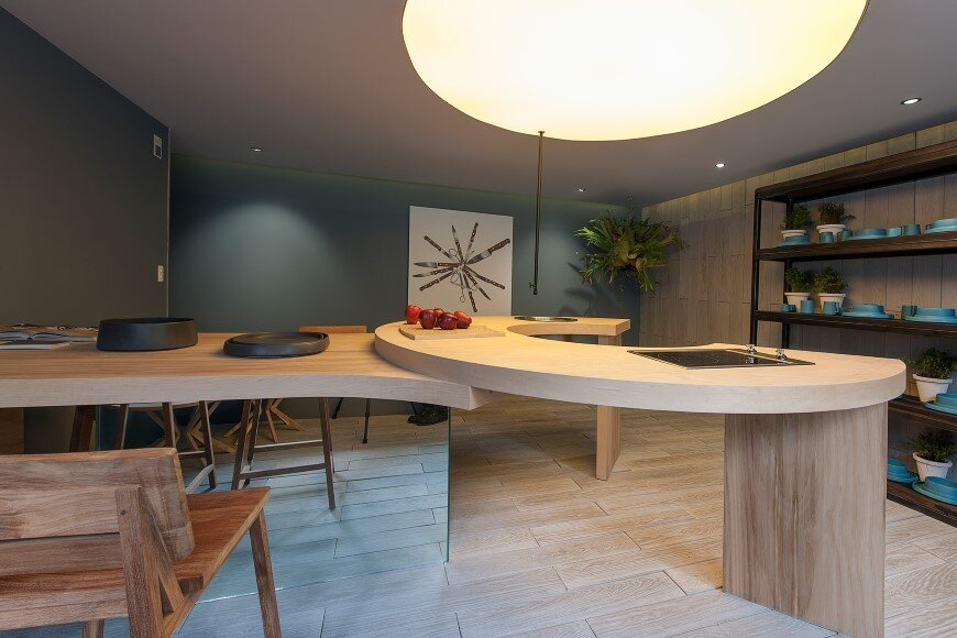 Kitchen design with subtlety of form and comfortable functionality (1)