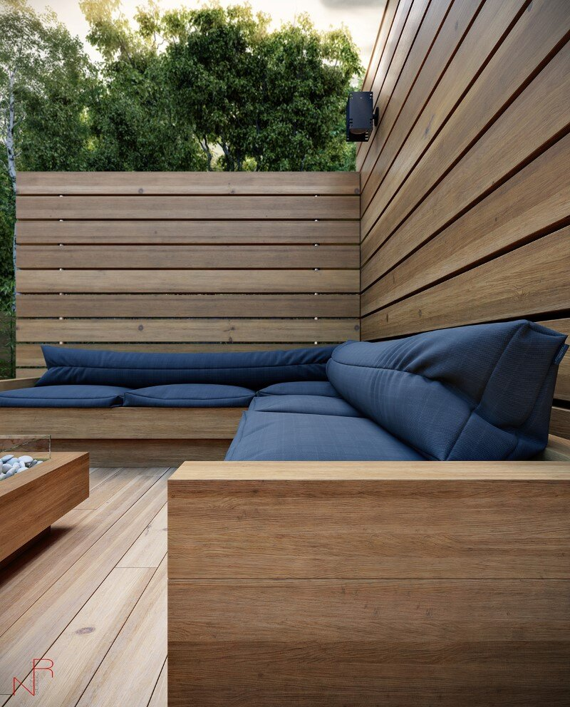 Romas Noreika's personal architectural project for a summer house (3)