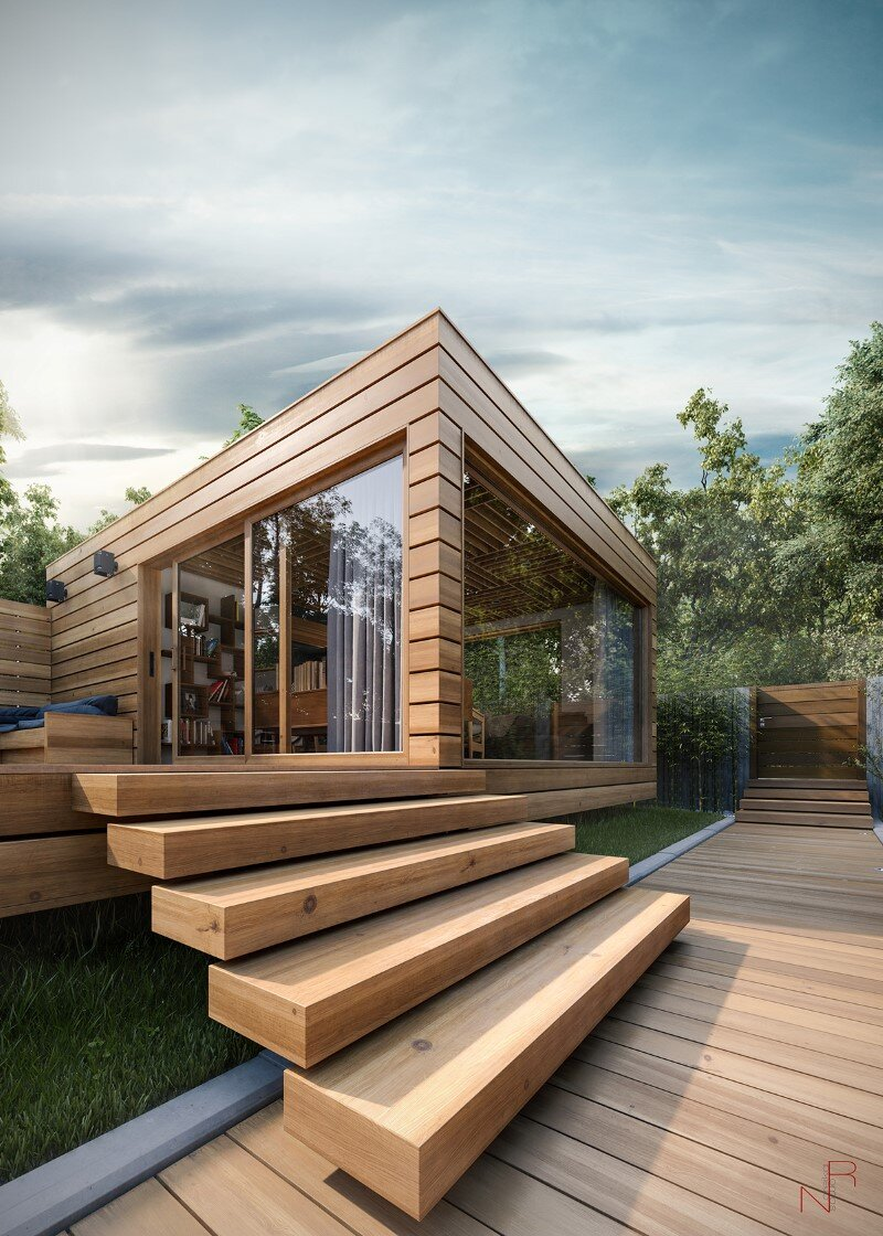 Summer House is a personal project realized by English designer Romas Noreika.