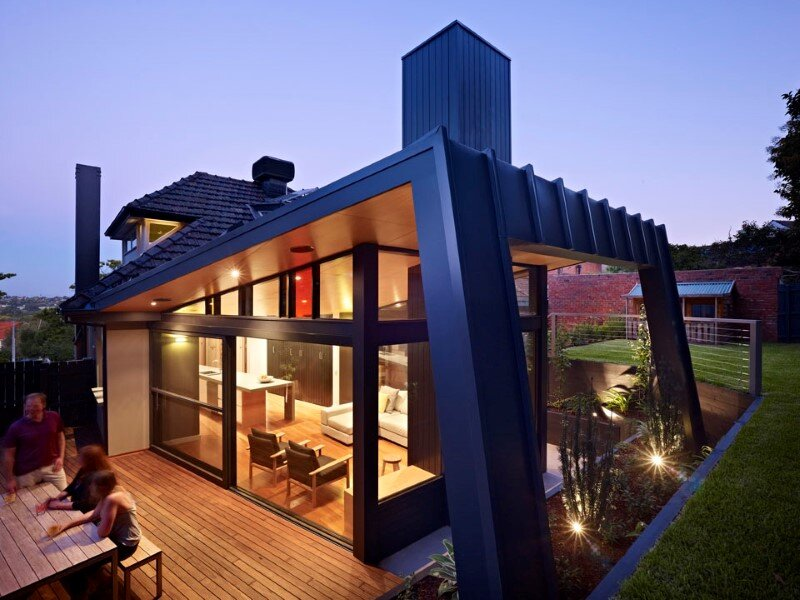 Suburban house extension with environmentally sustainable design (1)