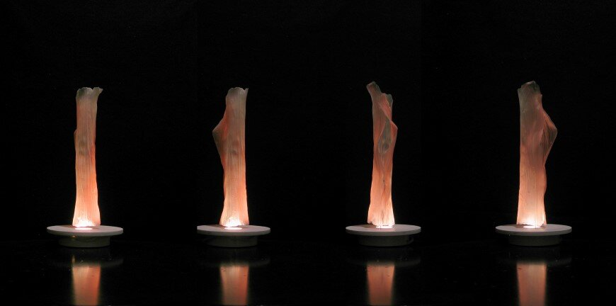 Undulae - Series of lamps made of bioplastic material by Taeg Nishimoto (1)