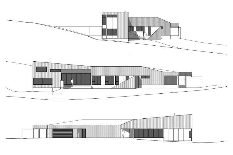 Valley Residence - shaped and adapted to the contours of a valley - Philip M. Dingemanse (15)