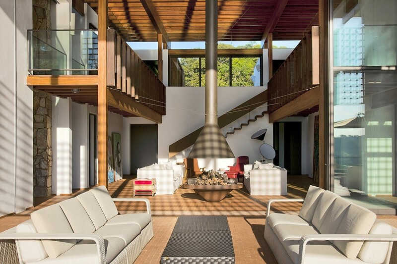 Weekend house with contemporary design placed in the Brazilian Atlantic Forest (6)
