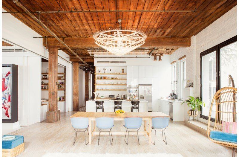 Williamsburg loft - industrial space turned into a comfortable home and work space (3)