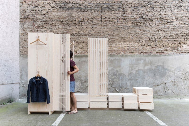 Wooden furniture for bedroom with a minimalist design - Sebastian Fischer (2)