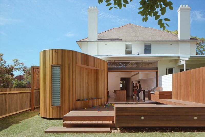 Bold conceptual approach for adding a open kitchen to a semi detached home Dulwich Hill Residence 1