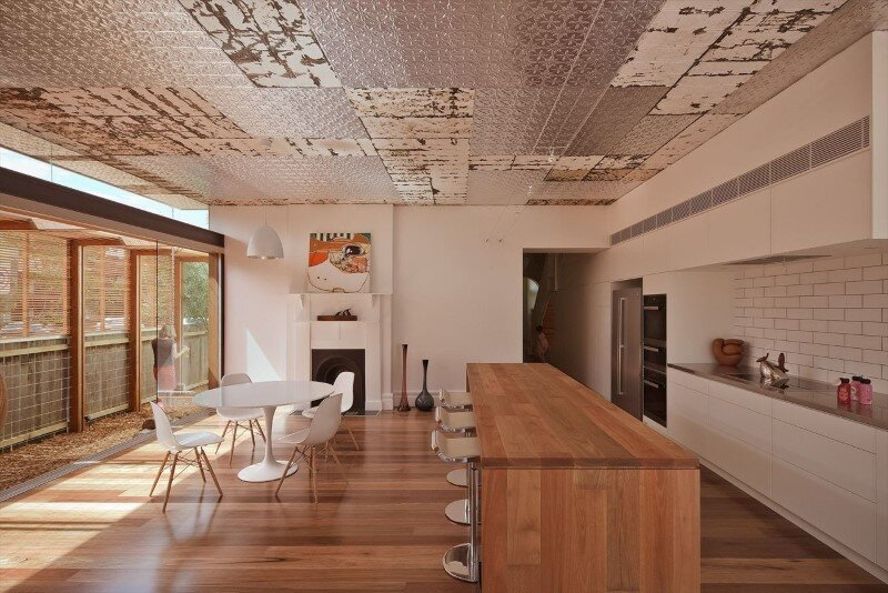 Bold conceptual approach for adding a open kitchen to a semi-detached home - Dulwich Hill Residence (2)