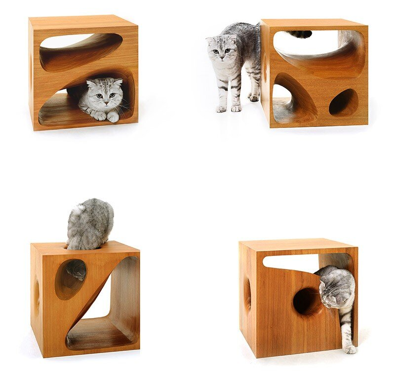 CATable wooden cubes designed for playful cats (7)