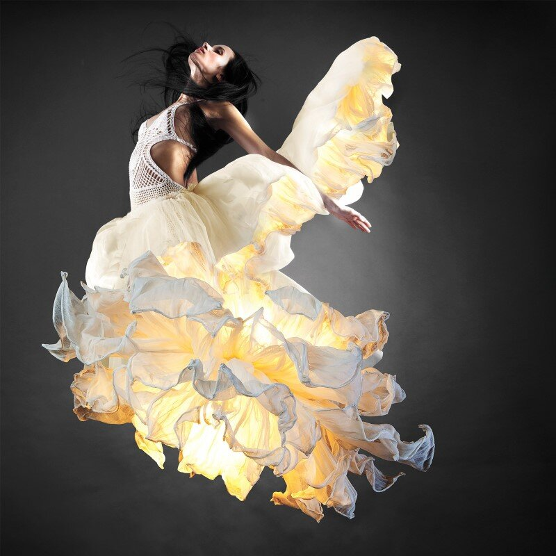 Fandango hanging lamp inspired by flamenco dance (6)