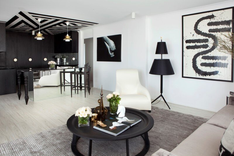 Marine Parade apartment with a charming monochromatic interior