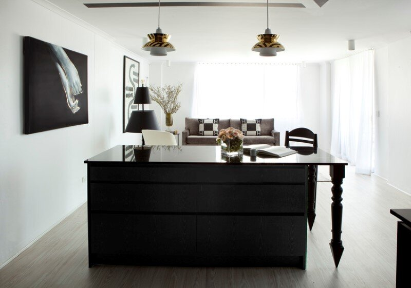 Marine Parade flat with a charming monochromatic interior