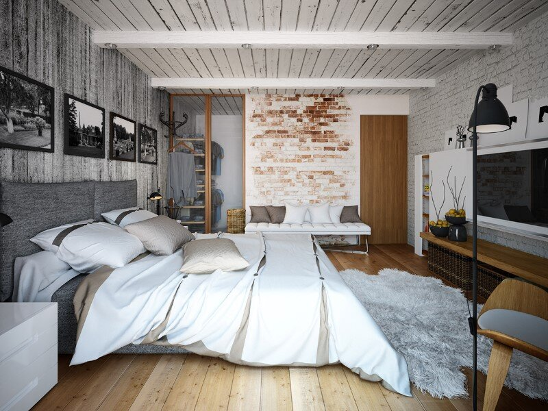 Loft project by Galina Lavrishcheva - combination of styles - rustic and modern (20)