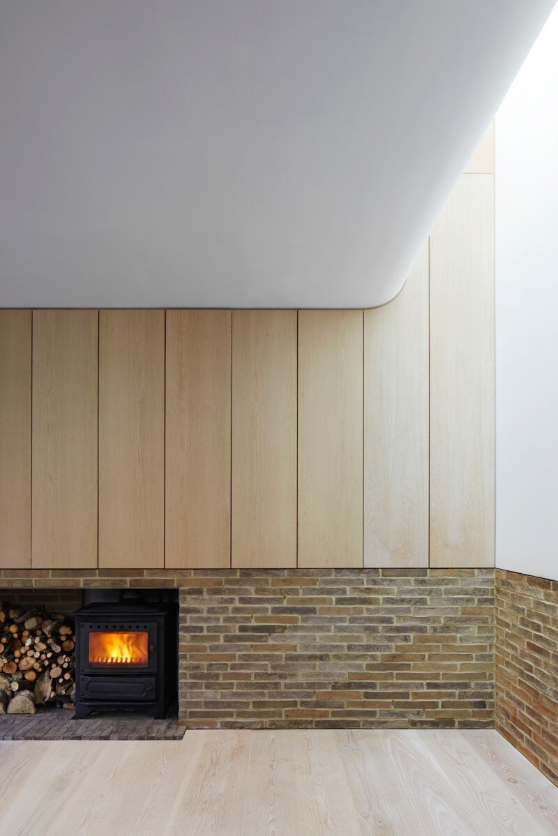London House - family home formed of two sculptural volumes of weathering steel (15)
