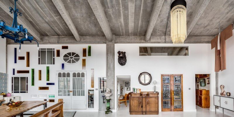 London apartment with industrial and retro features (1)