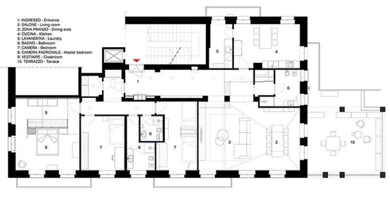 Metaphysical remix - renovation of apartment in Turin (14)