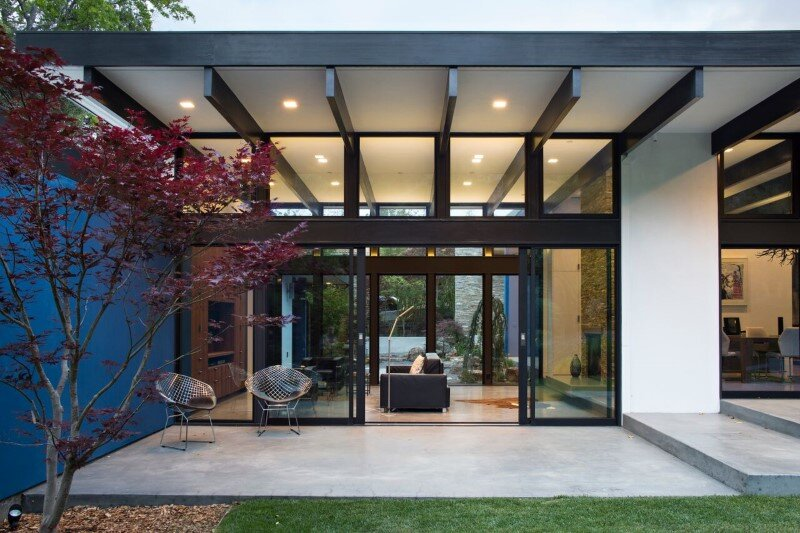 Modern Atrium House - energy efficient new home by Klopf Architecture (9)