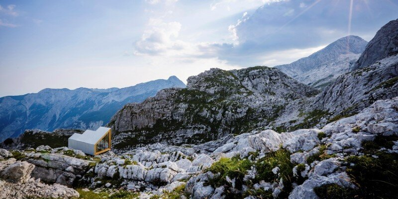 Mountain shelter on the highest peak in Slovenia 15