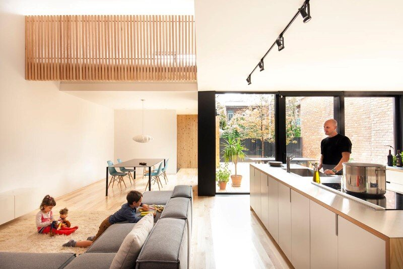 Old duplex renovated and converted into a family home (2)