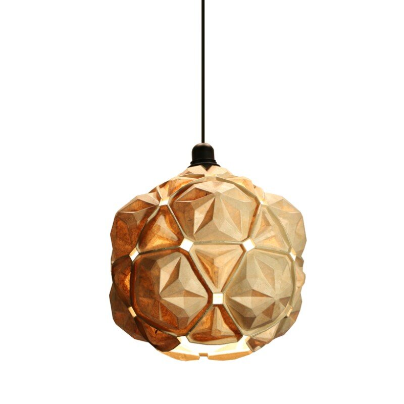Penta Lamp Collection - aesthetics and sustainability through recycling of cassava waste (3)