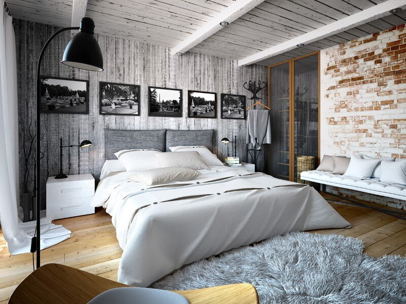 Project interiors of the private house by Galina Lavrishcheva - combination of styles - rustic and modern (4)