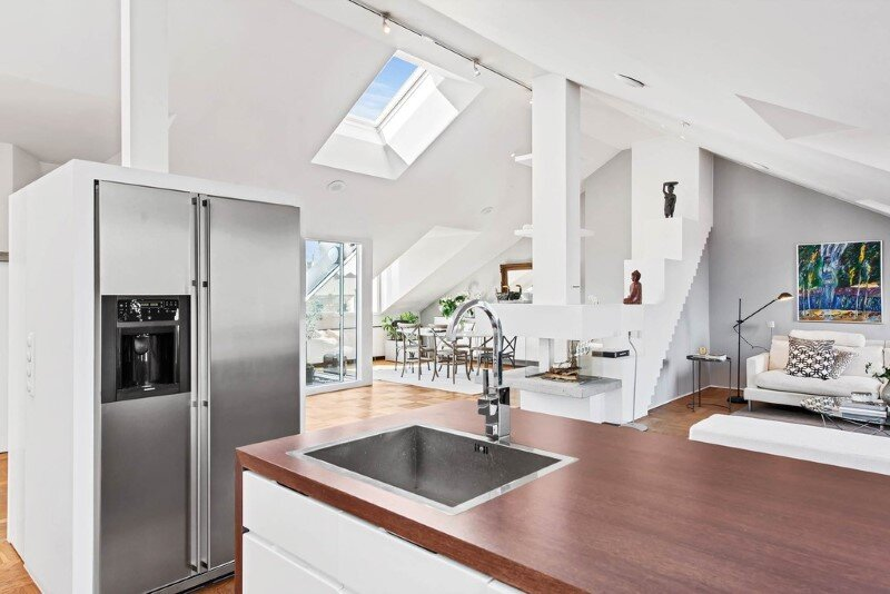 Scandinavian attic apartment with exceptional interior and sunny terraces (17)