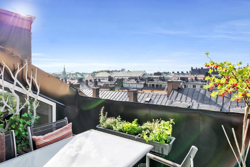 Scandinavian attic apartment with exceptional interior and sunny terraces (7)