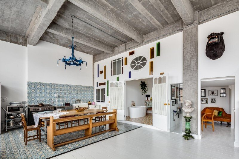 Spacious apartment with industrial and retro features - 200 sq ft overall space, London loft (6)