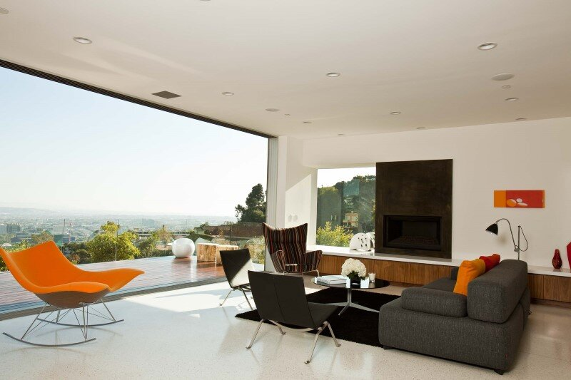Sunset Plaza Residence modernist forms with dramatic views over Los Angeles (3)