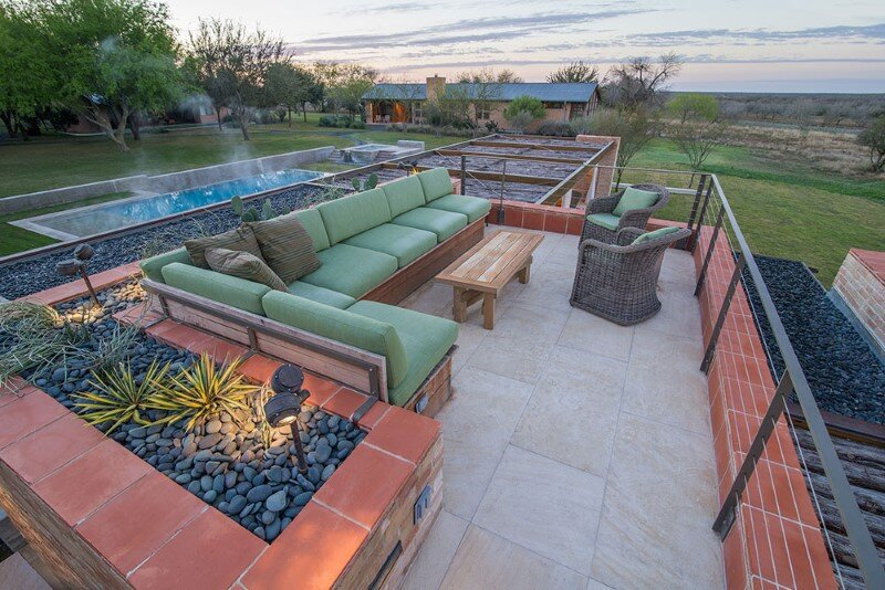 Temple Ranch Pool Cabin with jacal shade structures (14)