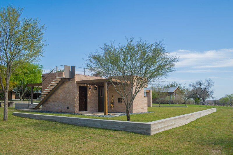 Temple Ranch Pool House with jacal shade structures (8)