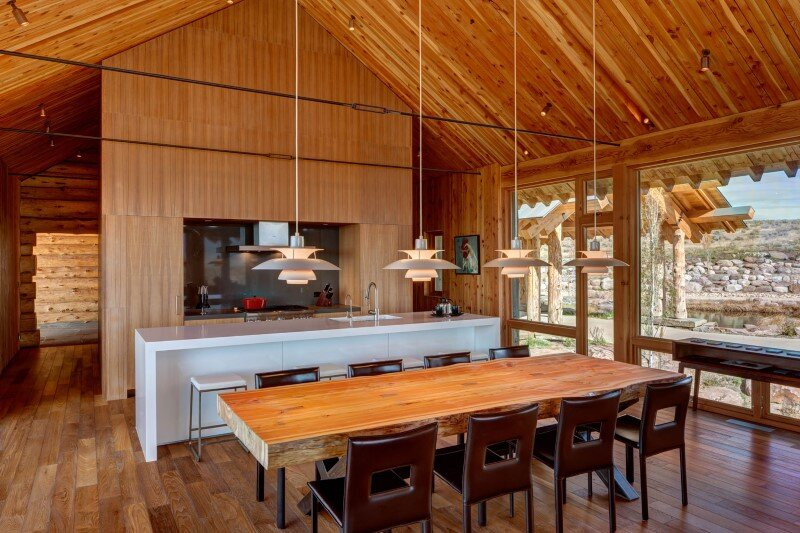 Wolf Creek Ranch - Log Home with traditional ranch architecture (12)