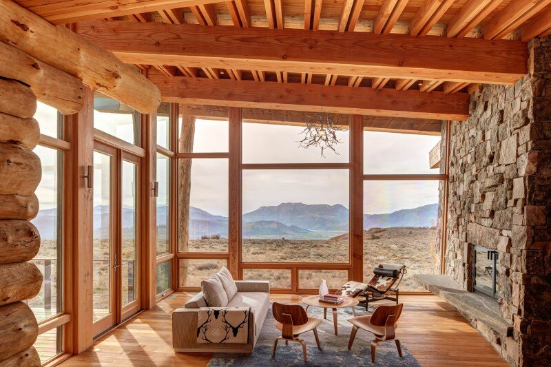 Wolf Creek Ranch - Log Home with traditional ranch architecture (13)