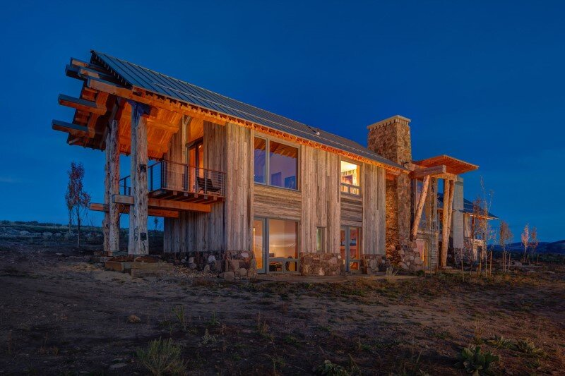 Wolf Creek Ranch - Log Home with traditional ranch architecture (3)