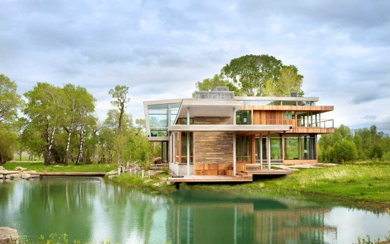 Big Timber Riverside House - Montana ranch by Hughesumbanhowar Architects (1)
