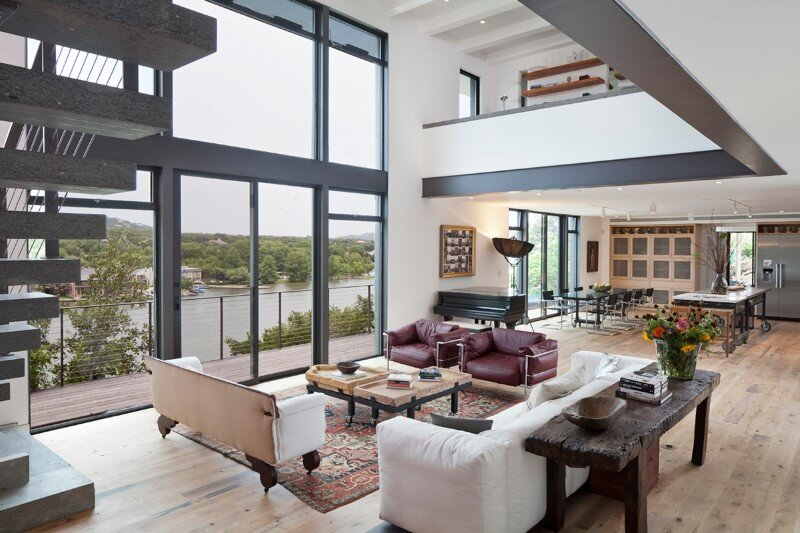 Cliff Dwelling - a residential renovation with a cliff-side view over Lake Austin (5)