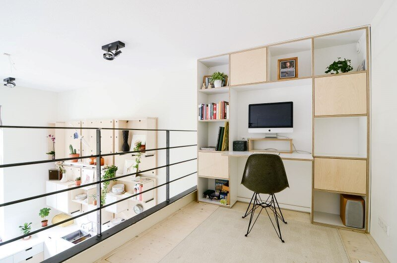 Conversion of an old school building to a new apartment for a young family 4