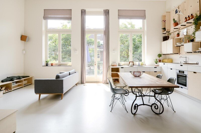 Conversion of an old school building to a new apartment for a young family 8