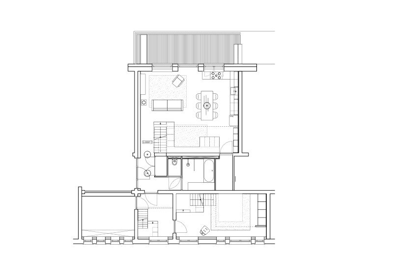 Conversion of an old school building to a new apartment for a young family (12)