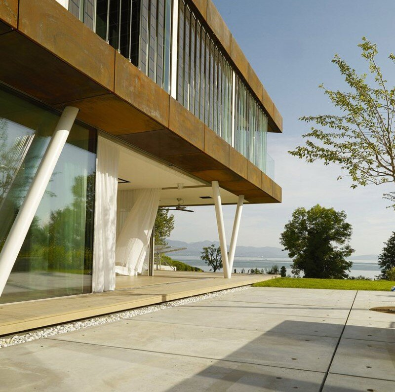 Eco friendly house design - Villa Jewel Box with an multifaceted garden outer shell (3)