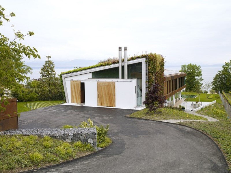 Eco friendly house design - Villa Jewel Box with an multifaceted garden outer shell (5)