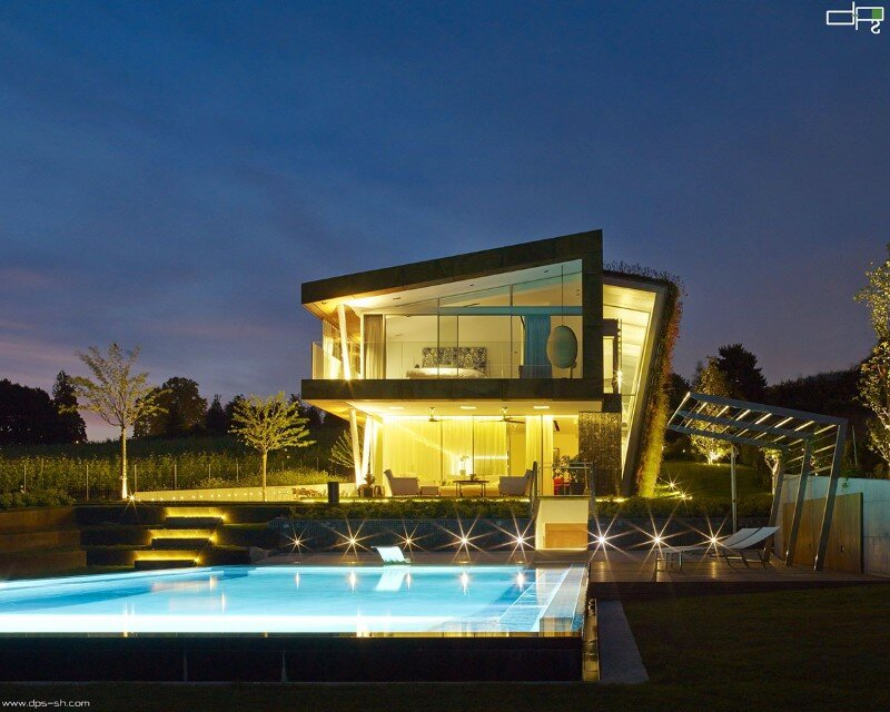 Eco house design - Villa Jewel Box with an multifaceted garden outer shell (14)