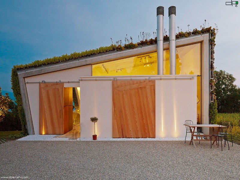 Eco house design - Villa Jewel Box with an multifaceted garden outer shell (17)