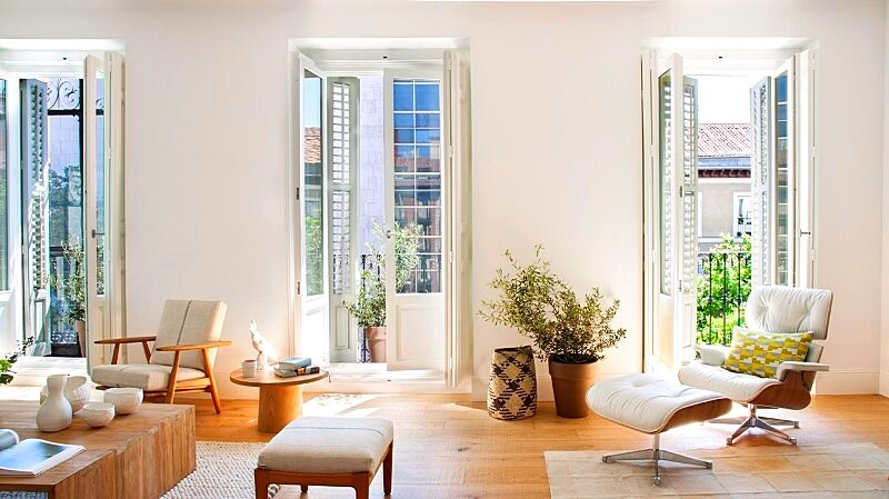 Full reconversion of 213 sq mt old flat in Madrid Ayala House (11)
