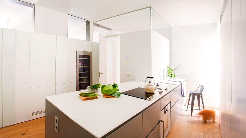 Full reconversion of 213 sq mt old flat in Madrid Ayala House (9)
