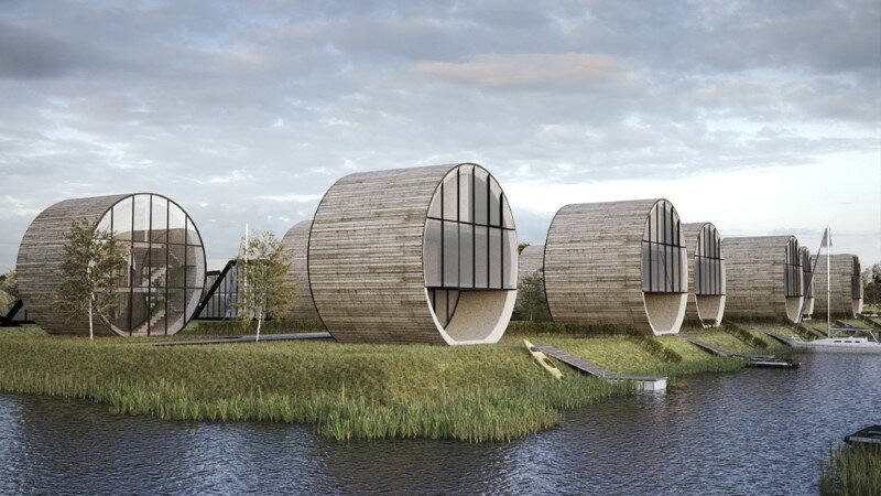 Futuristic architecture - 12 single family rolling homes by Do Architects (7)