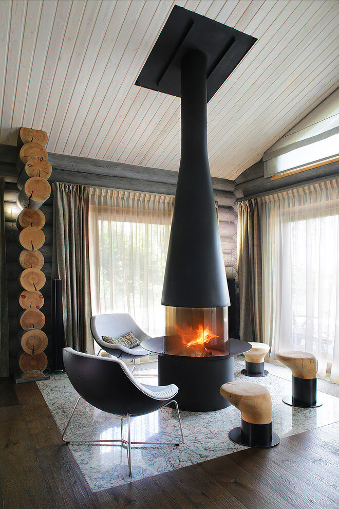 Gorgeous Wooden Cottage with Modern Interiors (16)