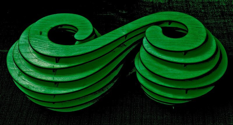 Sculpture that Symbolizes Infinity - The Infinite Green in Wroclaw (14)