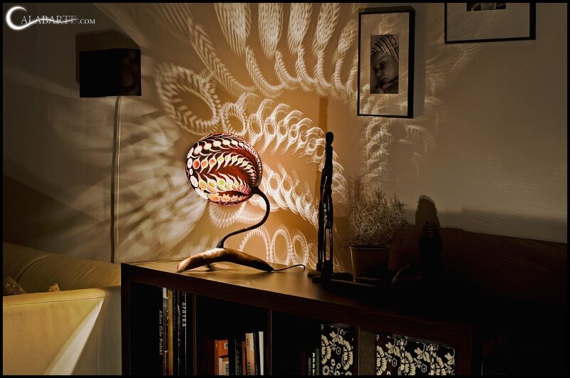 Handcrafted gourd lamps by Calabarte (10)
