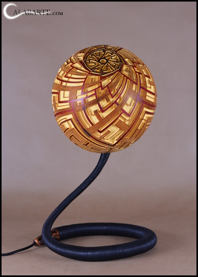 Handcrafted gourd lamps by Calabarte (18)