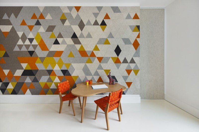 Harrison Avenue apartment with a colorful panelized felt wall (5)